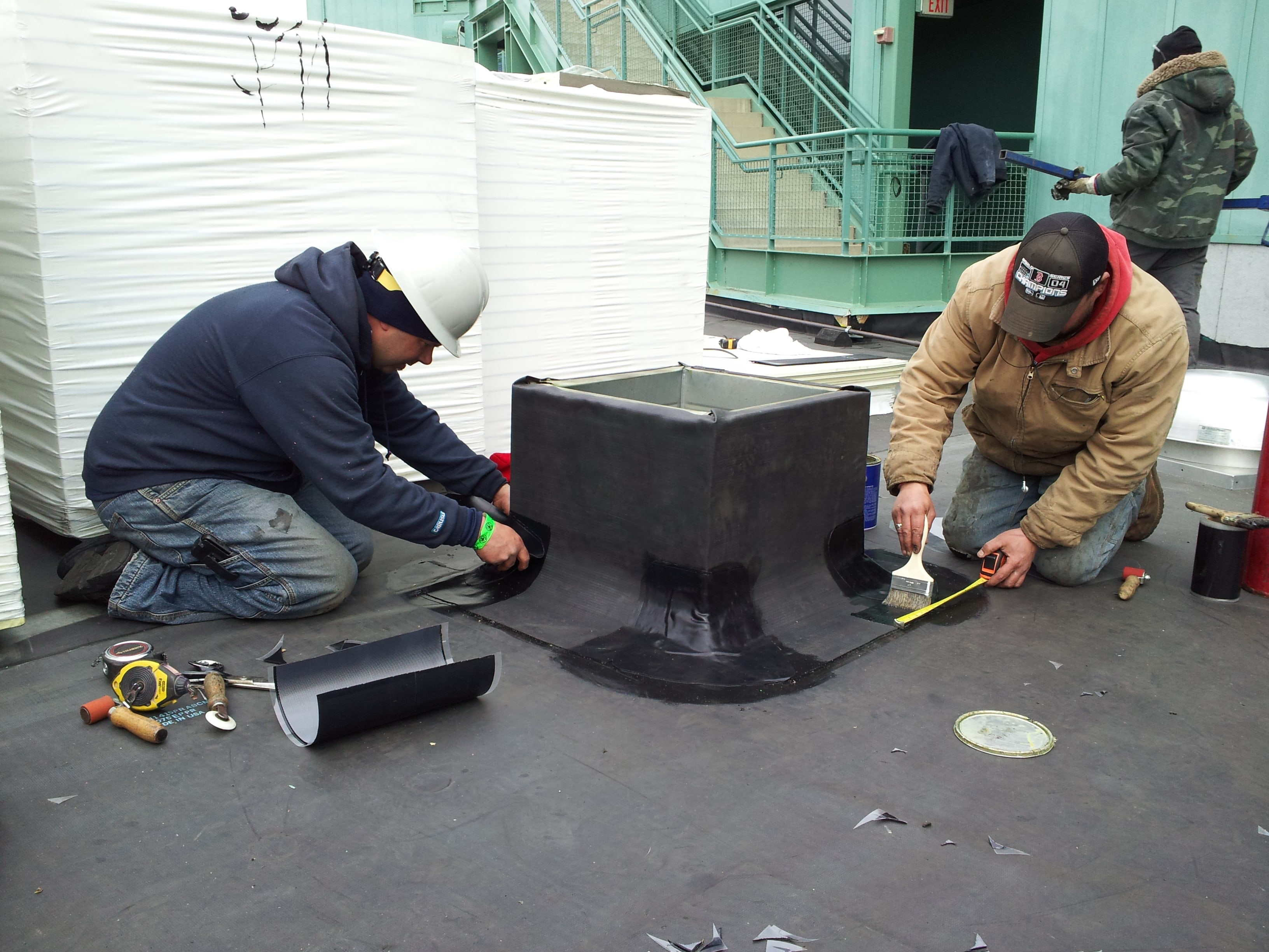 Epdm roof chaffee industrial roofing - Advantages using epdm roofing membrane ...