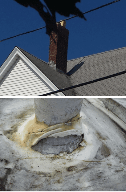 Chimney flashings are a common cause of roof leaks: The Chimney Safety  Institute of America