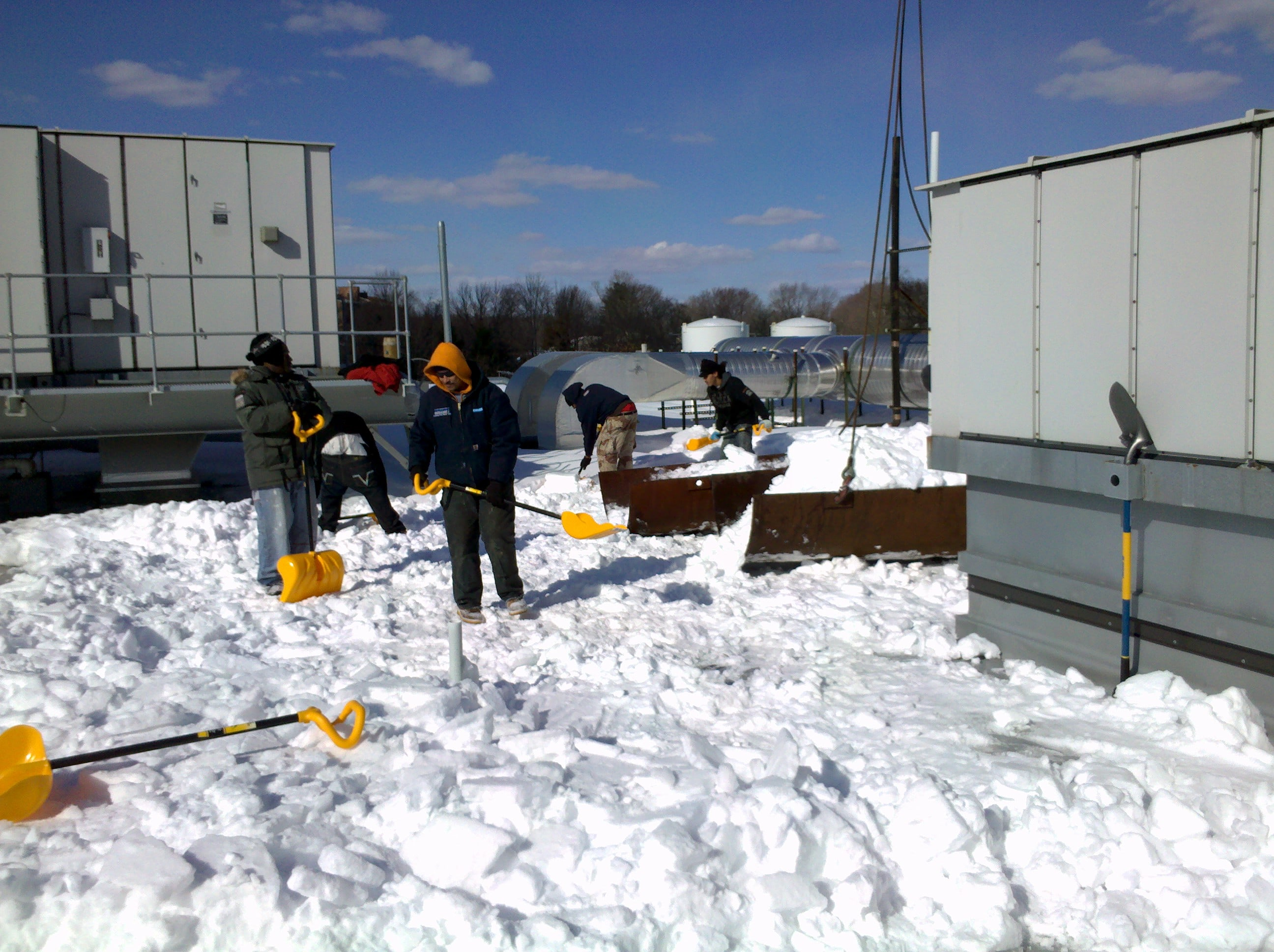 Roof Snow Shoveling Chaffee Roofing